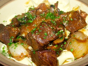 Julia Child's Boeuf Bourguignon -- Amazing thing