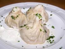 Georgian Khinkali -- Beef or Lamb stuffed pasta