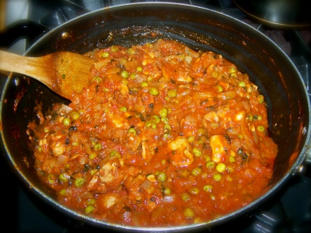 Georgian Chakhokhbili -- Chicken in Tomato Sauce