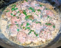 Indian Cookery -- Lamb Meatballs with cashew sauce
