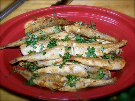 Simple pan fried smelt