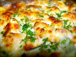 Yellow squash and potato gratin