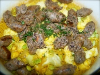 Sausage and Cauliflower Casserole. Again