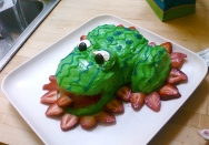 My daughter's 2nd birthday cake - a frog