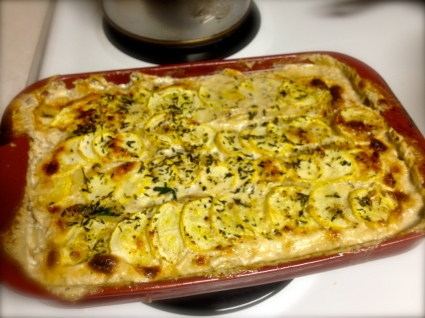 Some serendipitous yellow squash and chicken bake