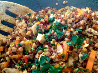 A fortunate experiment in Quinoa with vegetables