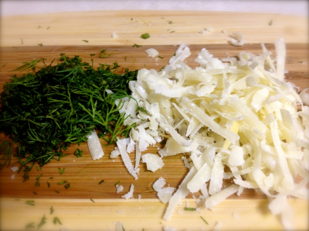 Parmesan and dill, the garnish crew