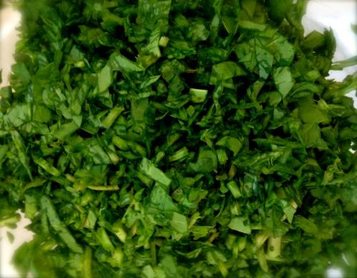 Chopped sorrel