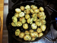 Simplicity at its best -- pan roasted new potatoes