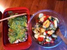 Bad photo of good food - chicken pesto and Italian salad