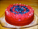 White chocolate torte with raspberry freeze, the best way to celebrate 4th of July