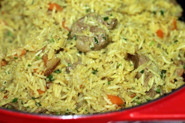 Lamb Plov is ready to serve