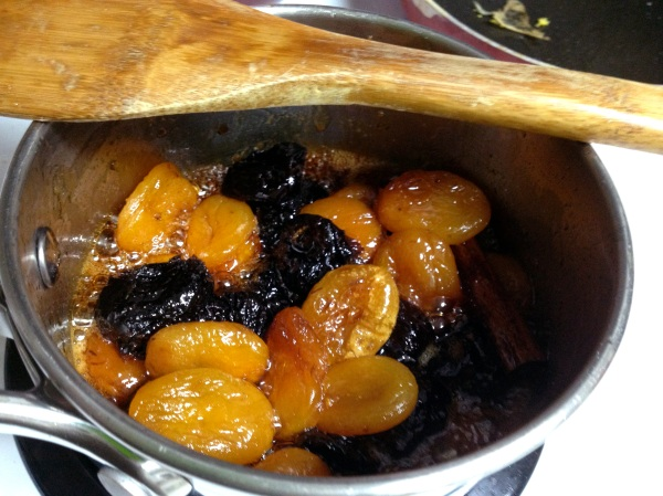Cooking prune and apricot filling