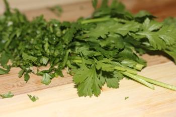 Fresh herbs, a much needed splash of flavor