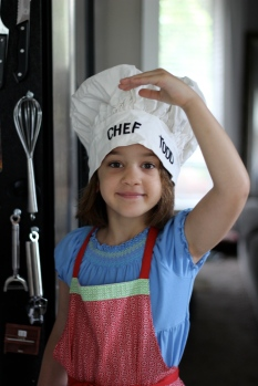 The Kid in Daddy's puffy chef's hat.