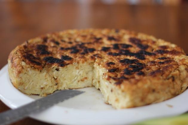 Matzoh Brei - traditional Jewish skillet pie