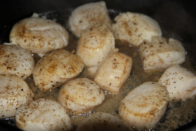 Sauteing scallops in butter. Sounds very not Greek to me