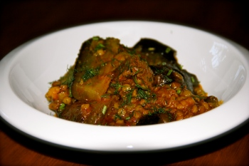 Lamb Tagine With Eggplant and Couscous