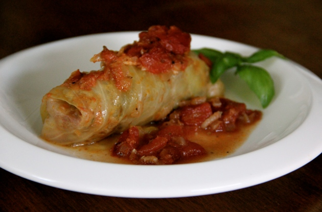 Stuffed Cabbage Roll ready to enjoy