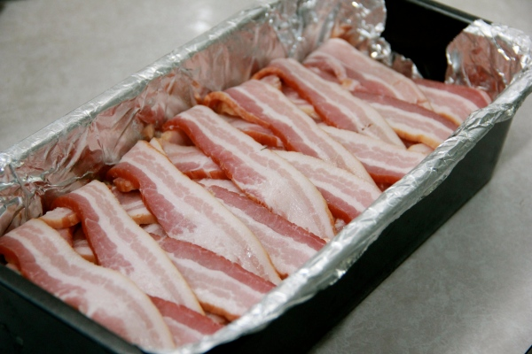 Rabbit Terrine -- ready for the oven