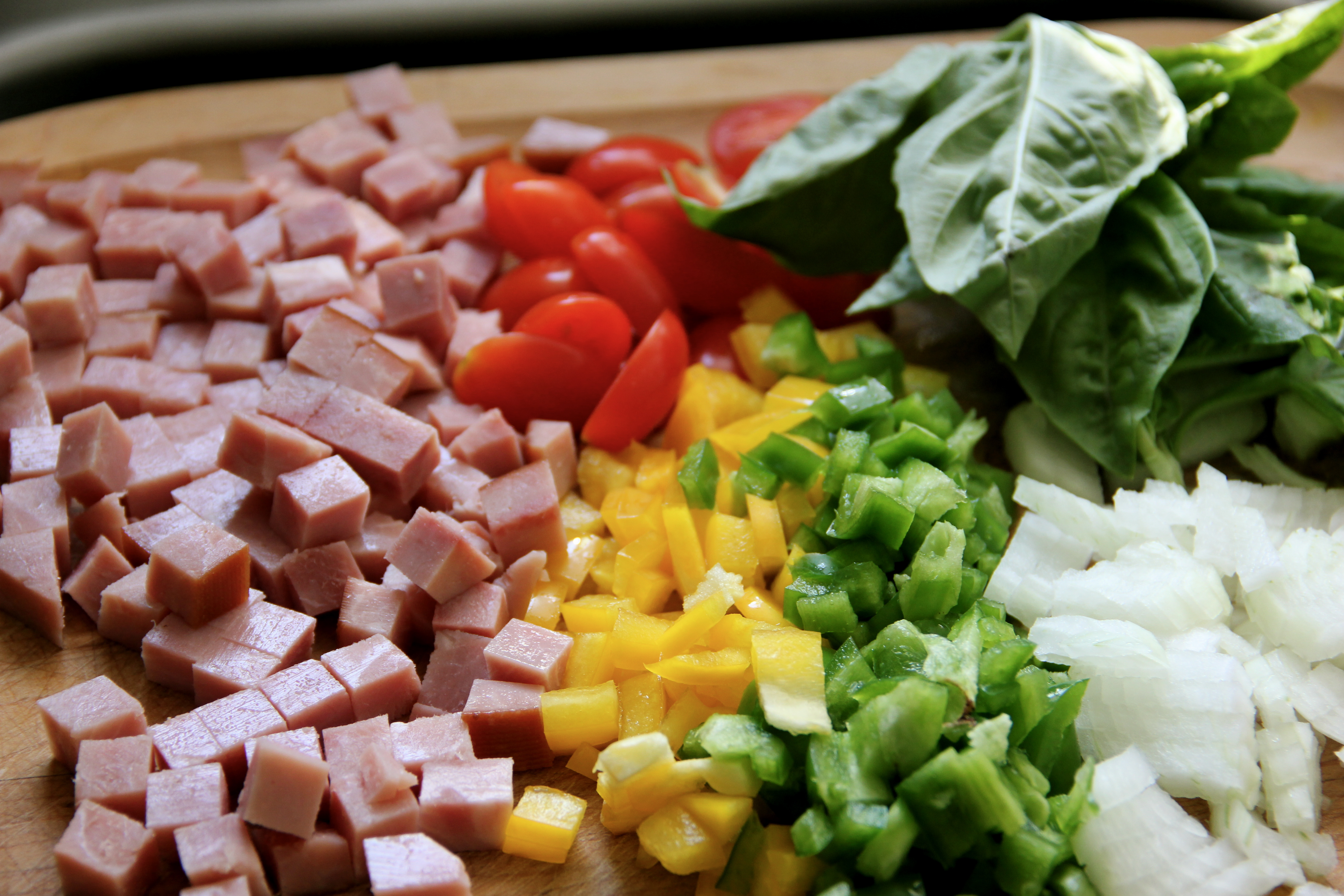 Diced vegetables and ham | Eat Already!