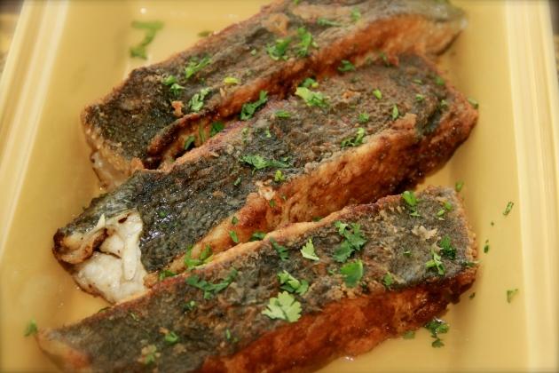 Skillet fried flounder