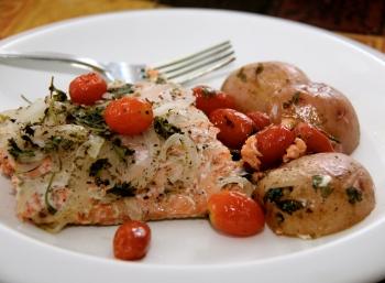 Simple Baked Salmon Dinner