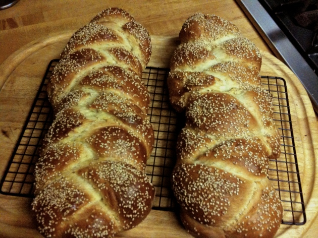 Some wild fermented Challah breads I baked last year