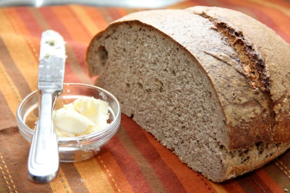 Rye sourdough with home made butter