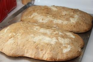 Freshly baked ciabatta