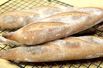 Whole wheat batards with buckwheat