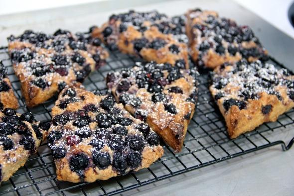 Good looking blueberry scones