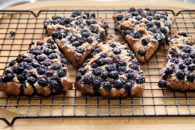 Spelt Blueberry Scones with Coconut