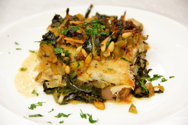 Mallorcan Braised Grouper, ready to serve