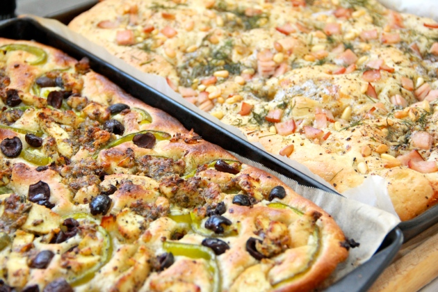 Ready to serve focaccia