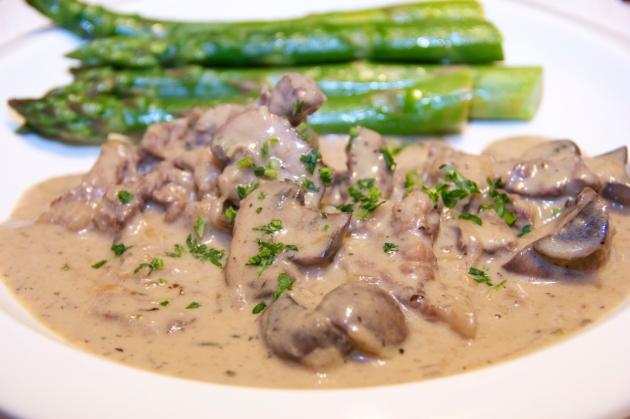 Beef Stroganoff -- an epitome of comfort food