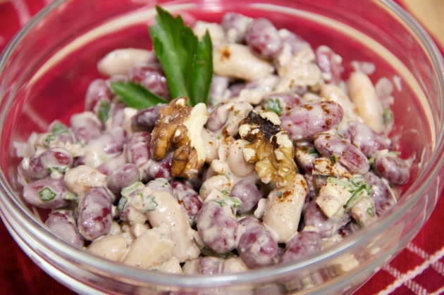 Chipotle Bean Salad With Walnuts
