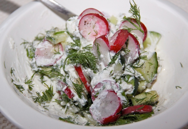 Cheese & Spring Vegetable Salad