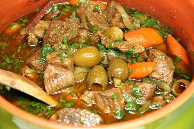 Lamb Tagine With Green Olives & Pickled Lemons
