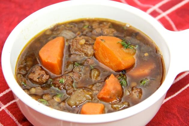 Spanich Sausage & Lentil Soup