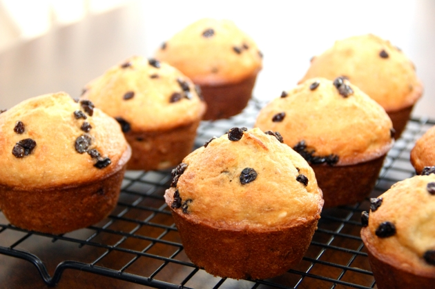 Banana Muffins with Nuts and Raisins