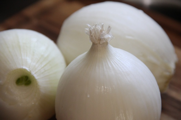 White onions - beautiful inside and out