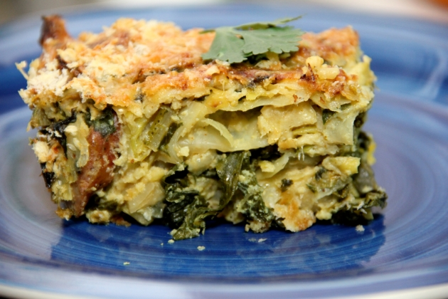 Curried Cabbage & Kale Gratin