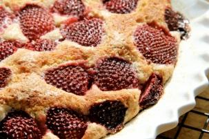 Making Strawberry Cake -- the closeup