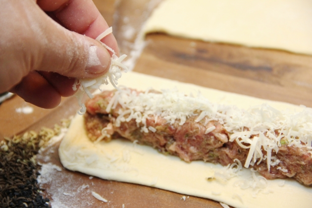 Sausage Bites With Pine Nuts -- adding parmesan
