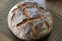 Sourdough Pumpernickel Baked In Cast Iron Combo