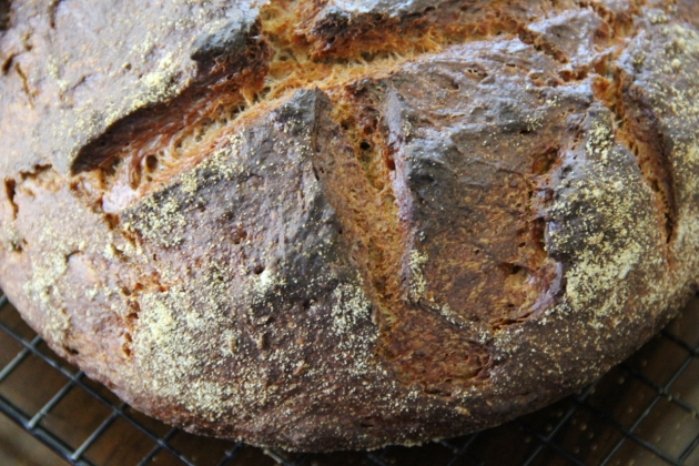 Sourdough Pumpernickel Baked In Cast Iron Combo