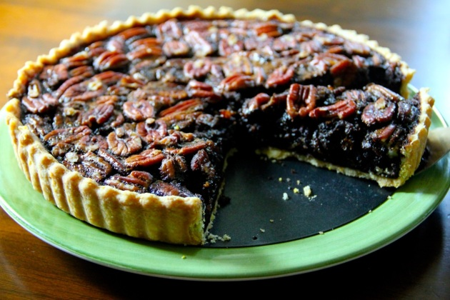 Grits Pecan Pie With Molasses