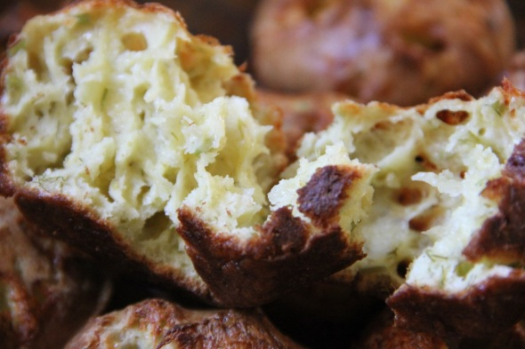 Dilly Cheese Popovers made with Krondild (Dill) Cheese by Castello