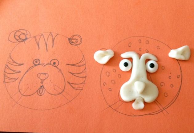 Cheetahs & Tigers -- drawing